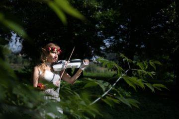 Fantasy-magia-foresta-violino-elfo-Cosplay
