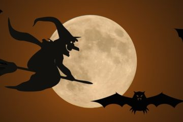 halloween-witch-bat
