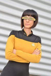 Giulia-Iannetti-Geordi La Forge versione female - serie televisiva Star Trek The Next Generation