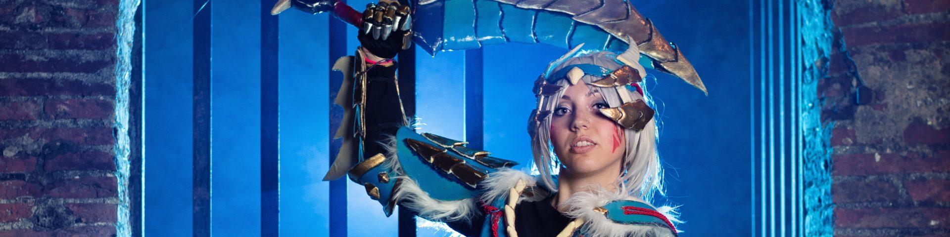 Lelly Cosplay zinogre armor set da monster hunter 3
